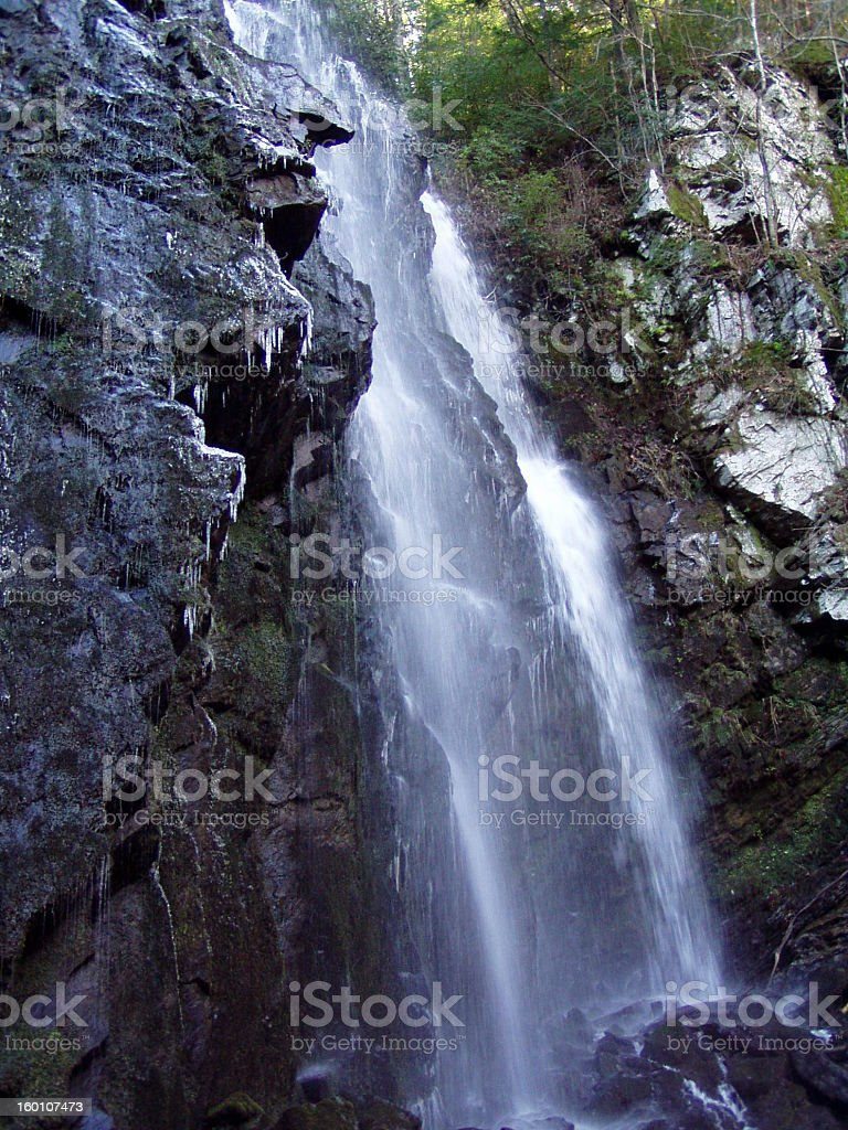 Side Shot of Waterfall royalty-free stock photo
