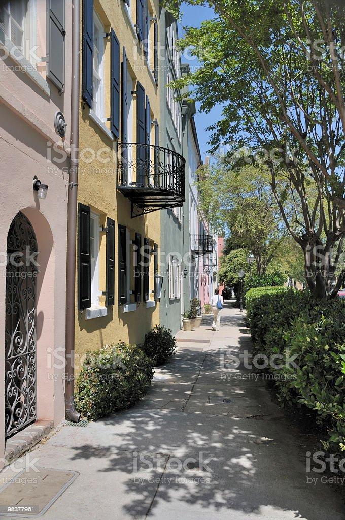 Side Street, Charleston, South Carolina royalty-free stock photo
