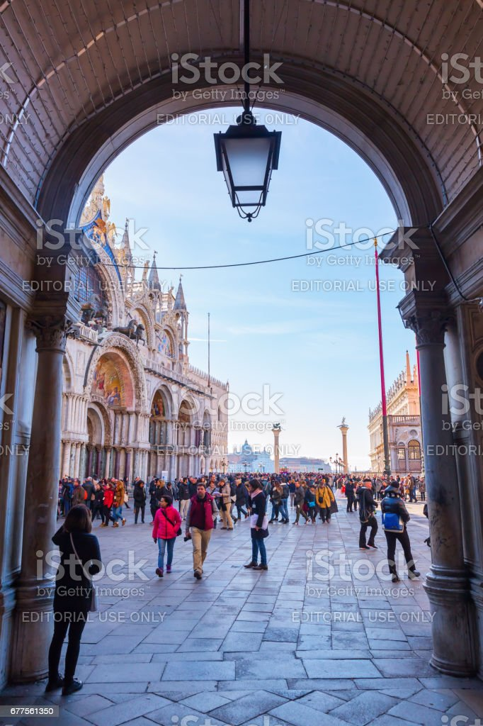 side street from St. Mark's Square in Venice, Italy royalty-free stock photo