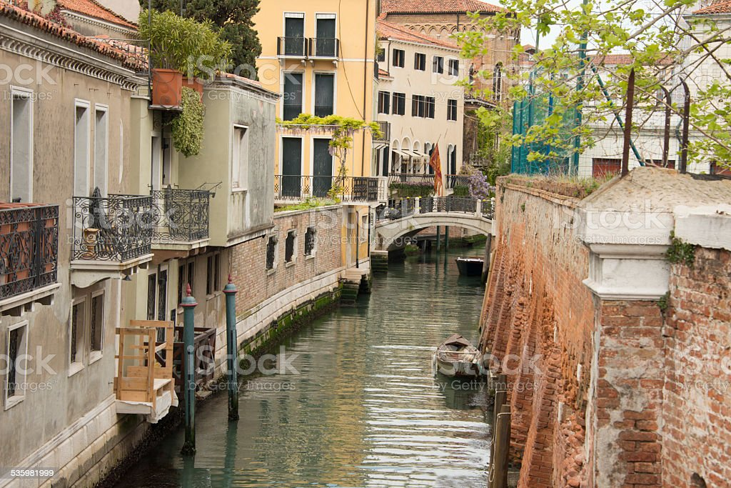 'Side street' in Venice stock photo