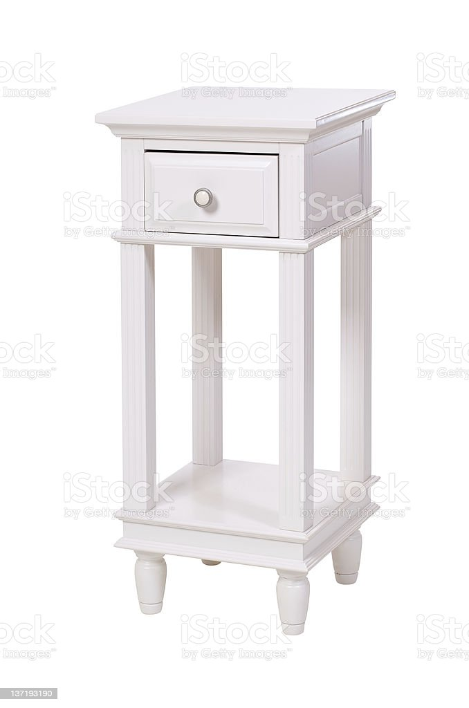 Side table isolated over white stock photo