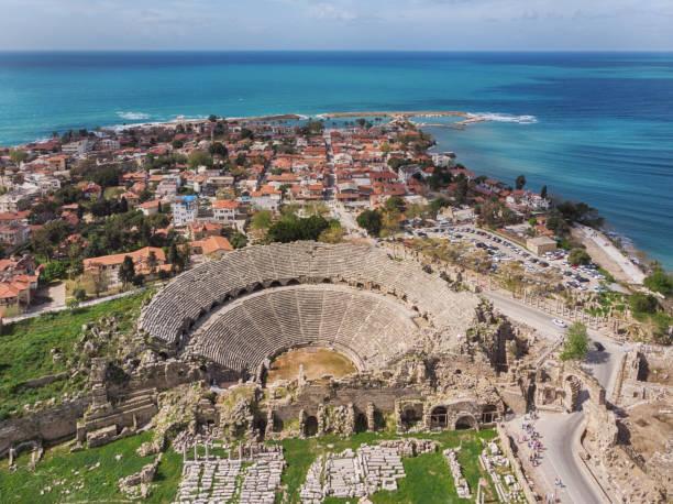 Side Townscape, Antalya, Turkey stock photo