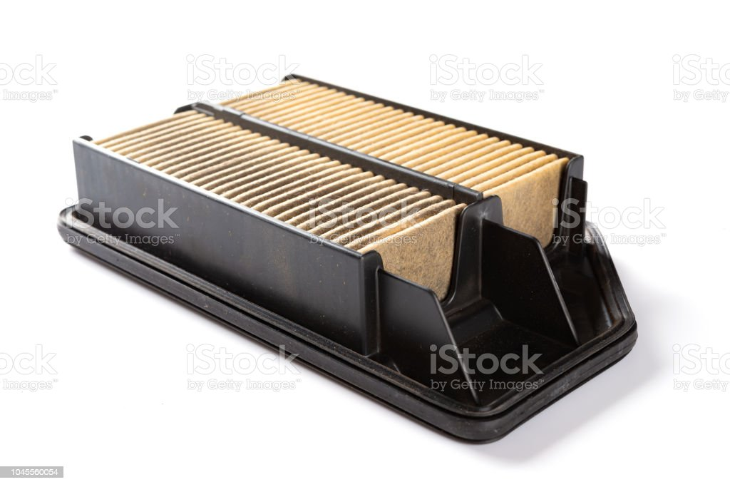 side view air filter for a car on white stock photo