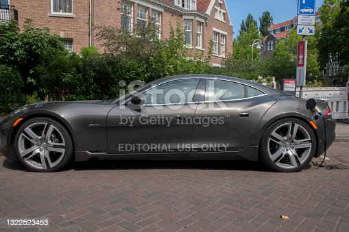 Side View Fisker Car At Amsterdam The Netherlands 10-8-2020