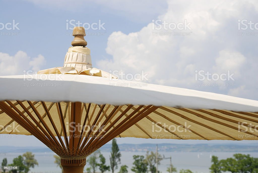 side view from beach umbrella royalty-free stock photo