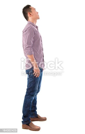 istock Side view full body Chinese Asian male 164352425