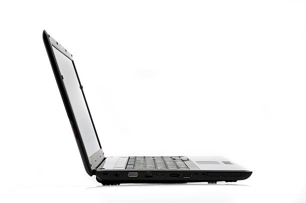 Side View Laptop stock photo