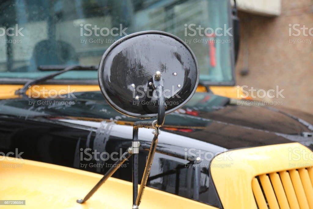 Side view morror scholl bus – zdjęcie