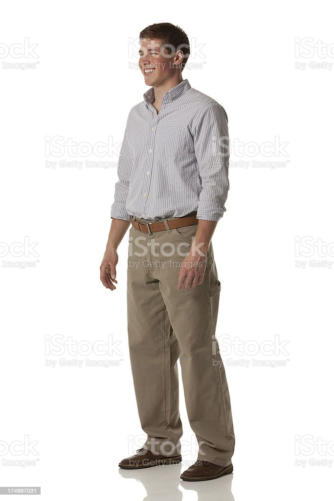 Side view of a happy young man royalty-free stock photo