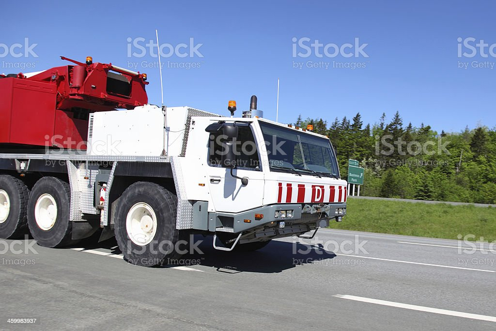Side view of a moble crane royalty-free stock photo
