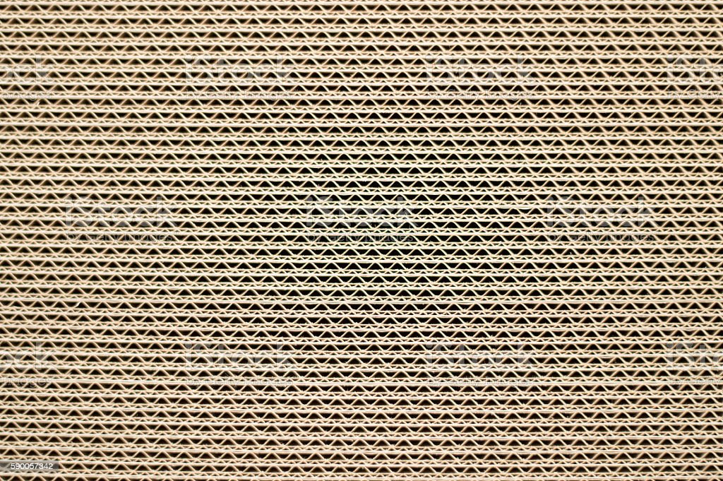 Side View of  a Pile of Cardboard stock photo