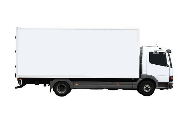 camion isolato - transport truck tyres foto e immagini stock