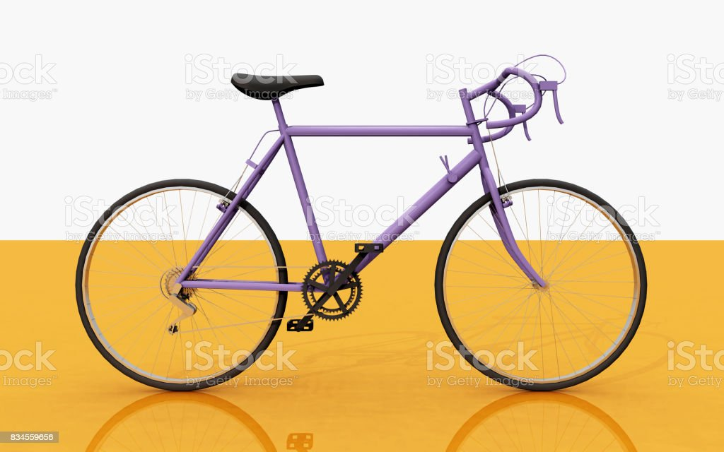Side view of a racing bicycle - foto stock