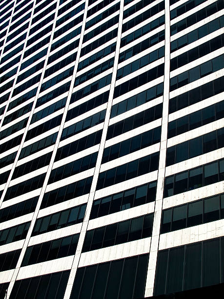 Side view of a skyscraper stok fotoğrafı