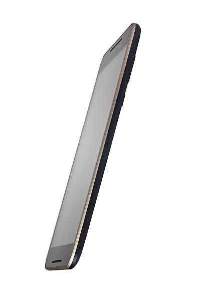 vista lateral de um smartphone com tela de toque - vista lateral - fotografias e filmes do acervo