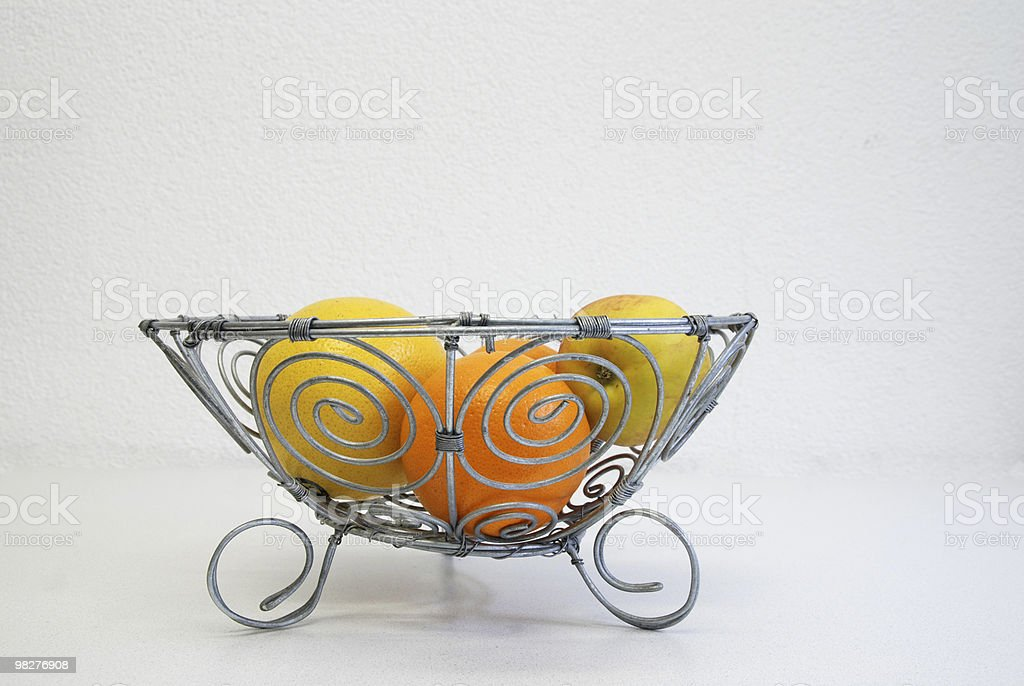 side view of a typical afican style fruit bowl royalty-free stock photo