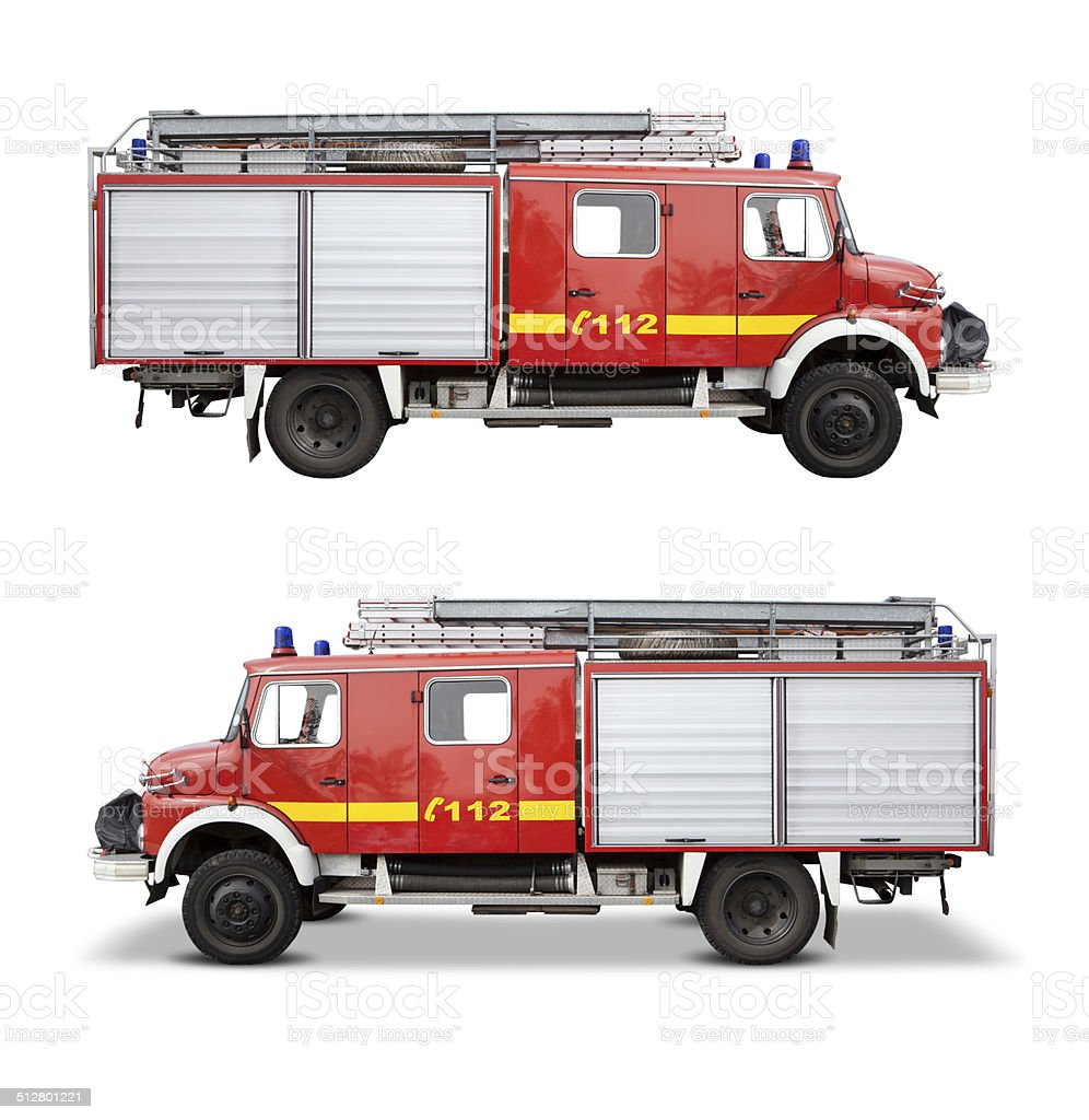 Side View Of A Vintage German Fire Truck Royalty Free Stock Photo