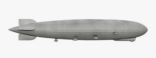 Side view of a Zeppelin stock photo