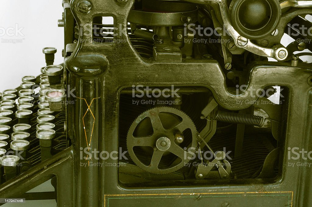 Side view of an old typewriter royalty-free stock photo
