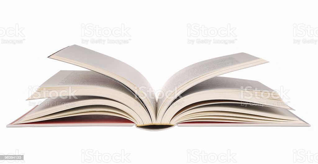 Side view of an open book exposing its pages - Royalty-free Book Stock Photo
