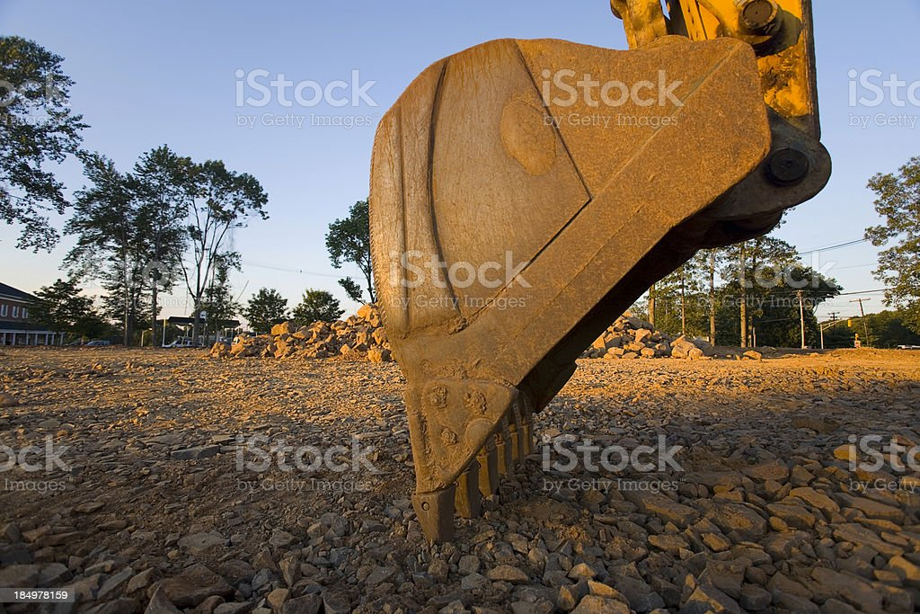 Side view of Backhoe Bucket closeup royalty-free stock photo