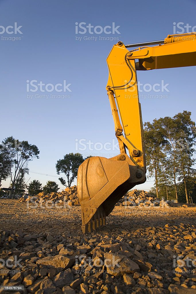 Side view of Backhoe Bucket royalty-free stock photo