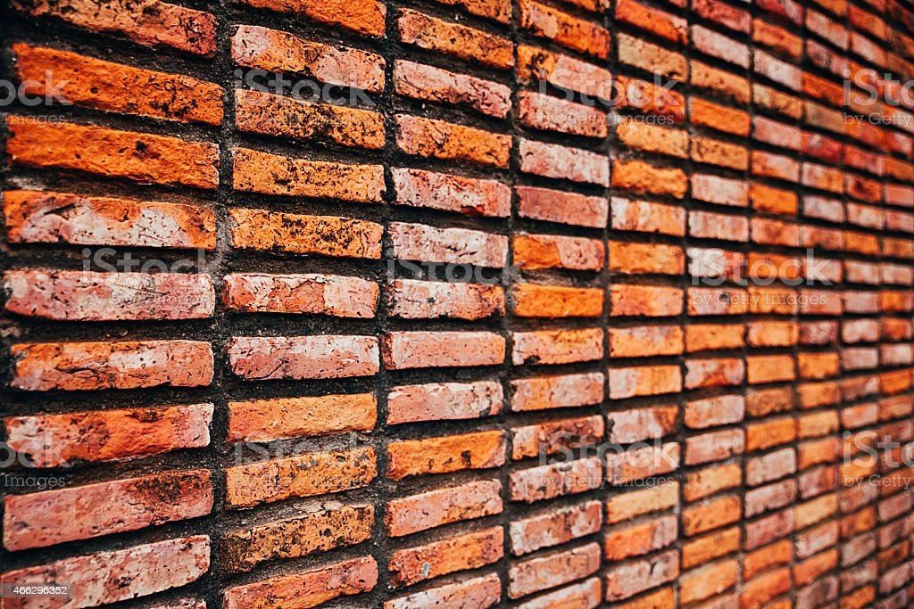Side View Of Brown Brick Wall Royalty Free Stock Photo