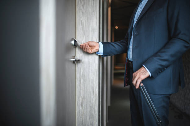 Seitenansicht des Business Executive Swiping Hotel Cardkey – Foto
