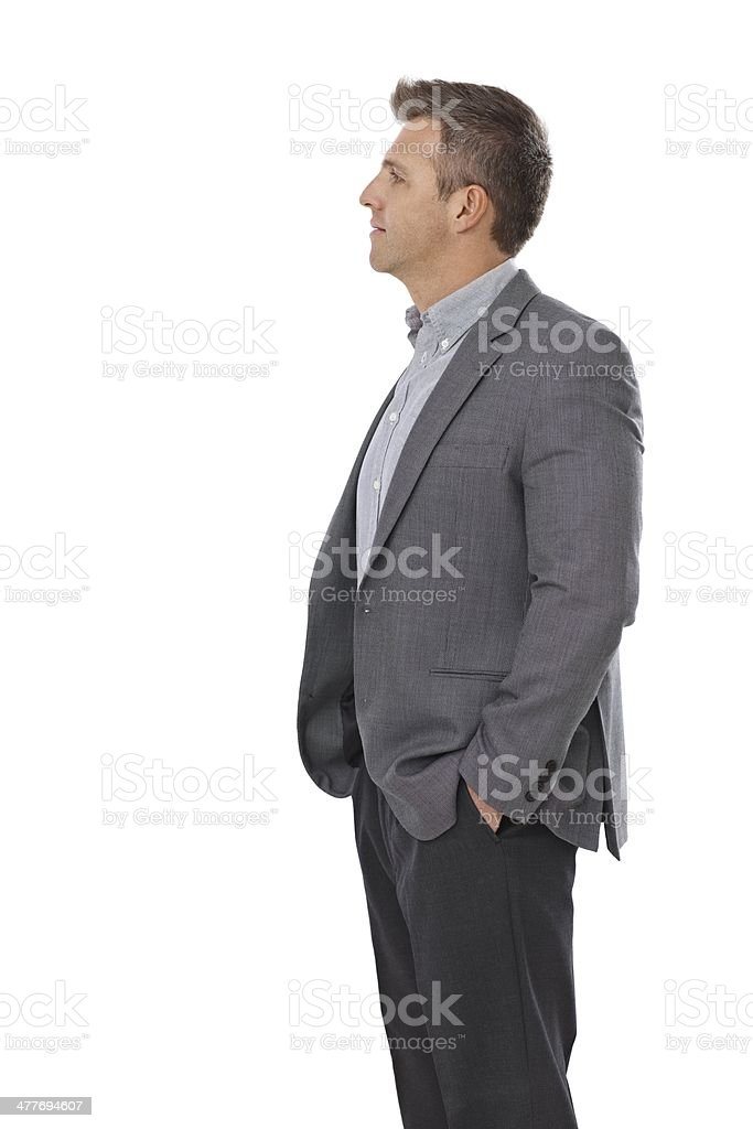 Side view of businessman royalty-free stock photo