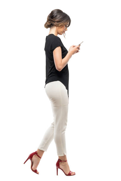 Royalty Free Woman Walking White Background Pictures ...