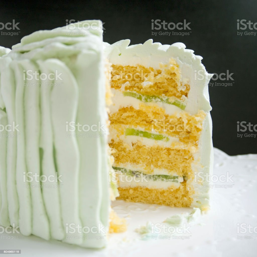 Side view of cake stock photo