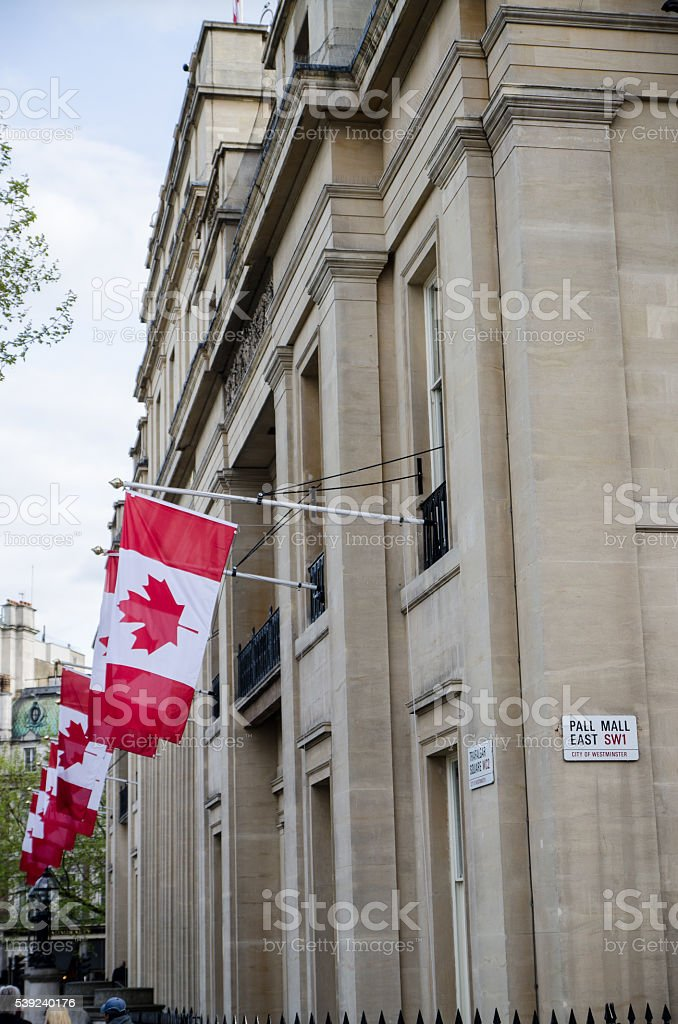 Side view of Canada House in London royalty-free stock photo