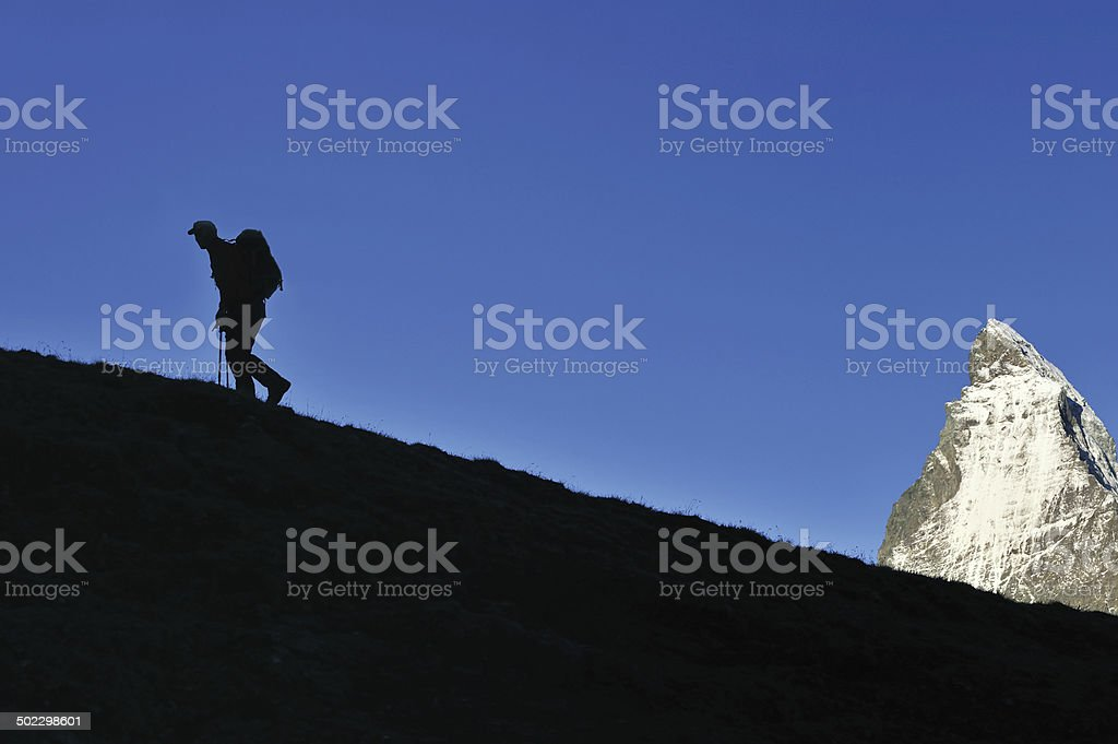 Side view of climber royalty-free stock photo