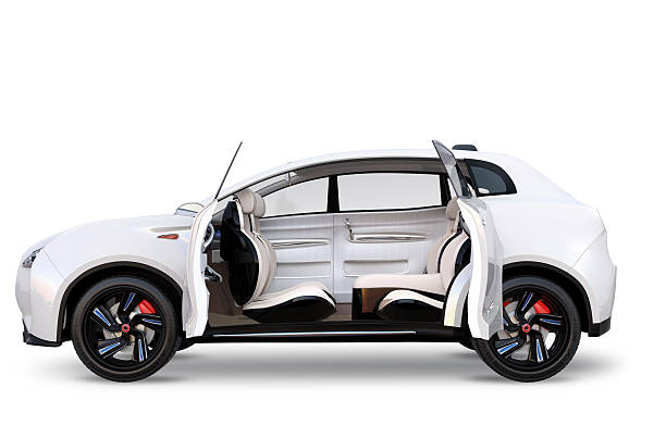 side view of electric suv concept car - independence stock photos and pictures