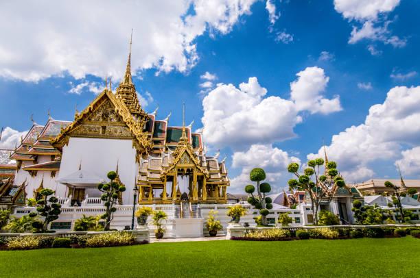 Side View Of Grand Palace Bangkok, Thailand stock photo
