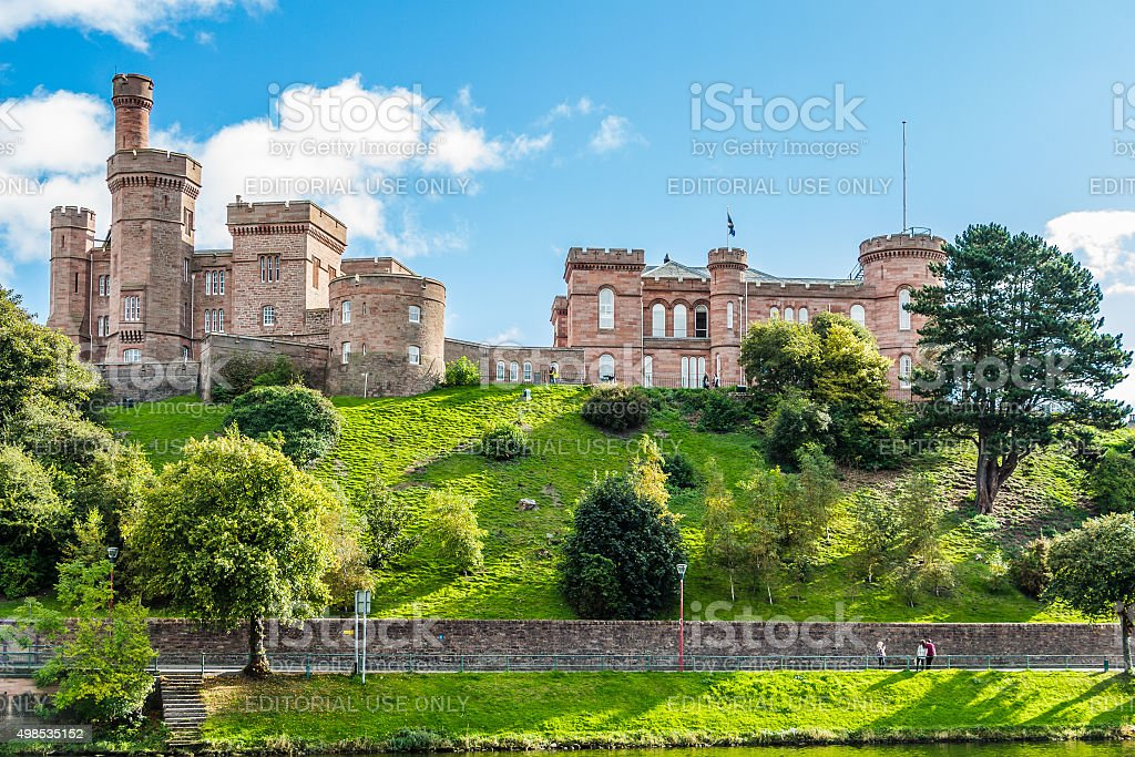 Side view of Inverness Castle stock photo