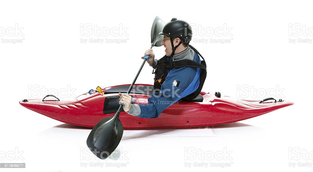 Side View Of Kayak Royalty Free Stock Photo