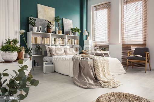 istock Side view of king size bed 982155310