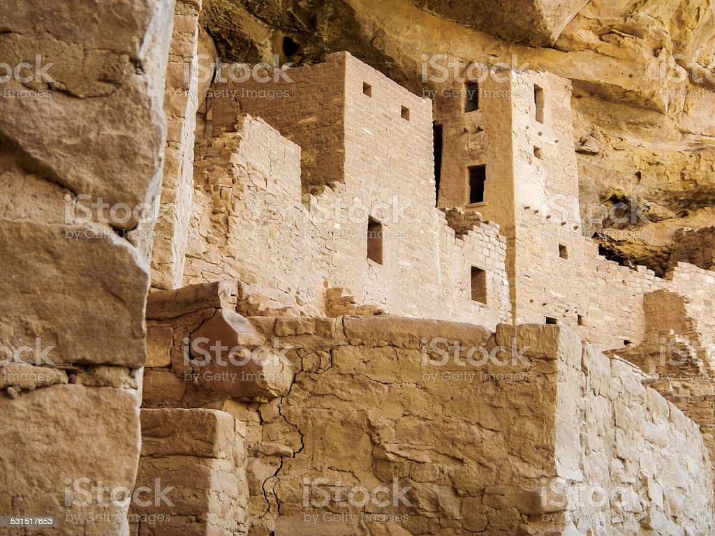 Side View of Ruins stock photo