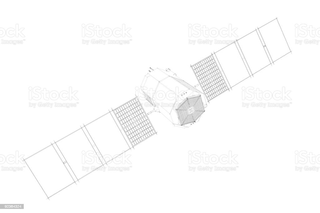 Side view of satellite royalty-free stock photo
