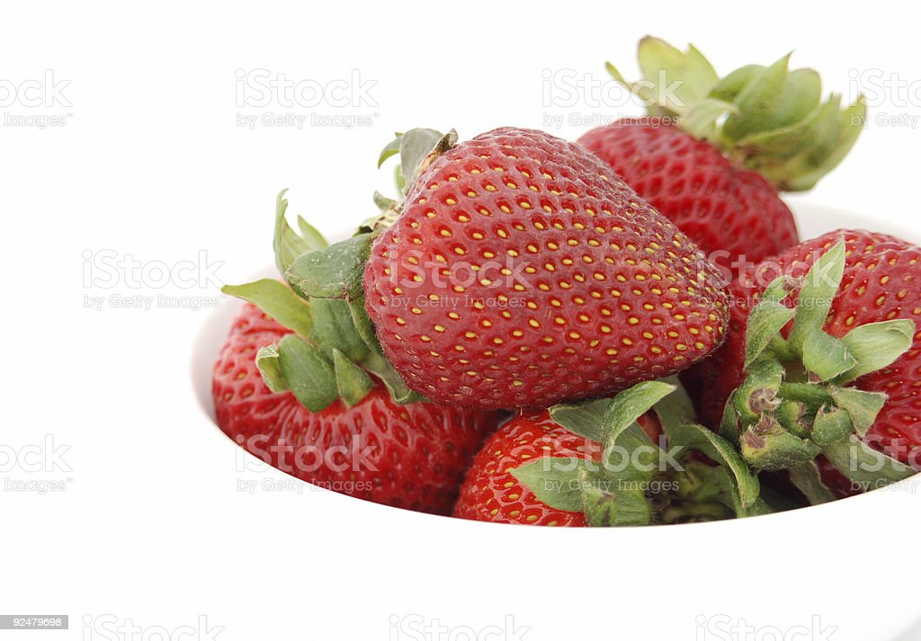 Side View of Strawberries royalty-free stock photo