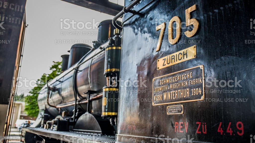 Seitenansicht des Schweizer Dampflok A 3/5 – Foto