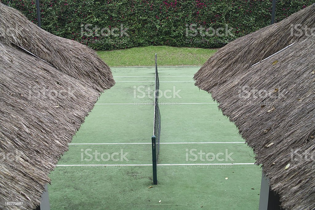 Side view of tennis court royalty-free stock photo