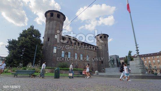 istock Side view of the Castello Casaforte degli Acaja 1021132972