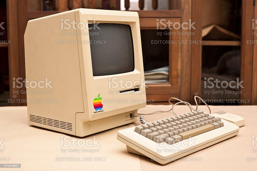 Side View of the Historic Macintosh 128k XXXL royalty-free stock photo