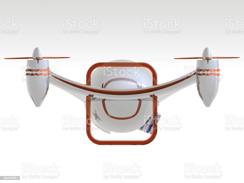 Side View of The New Generation Technological Drone stock photo