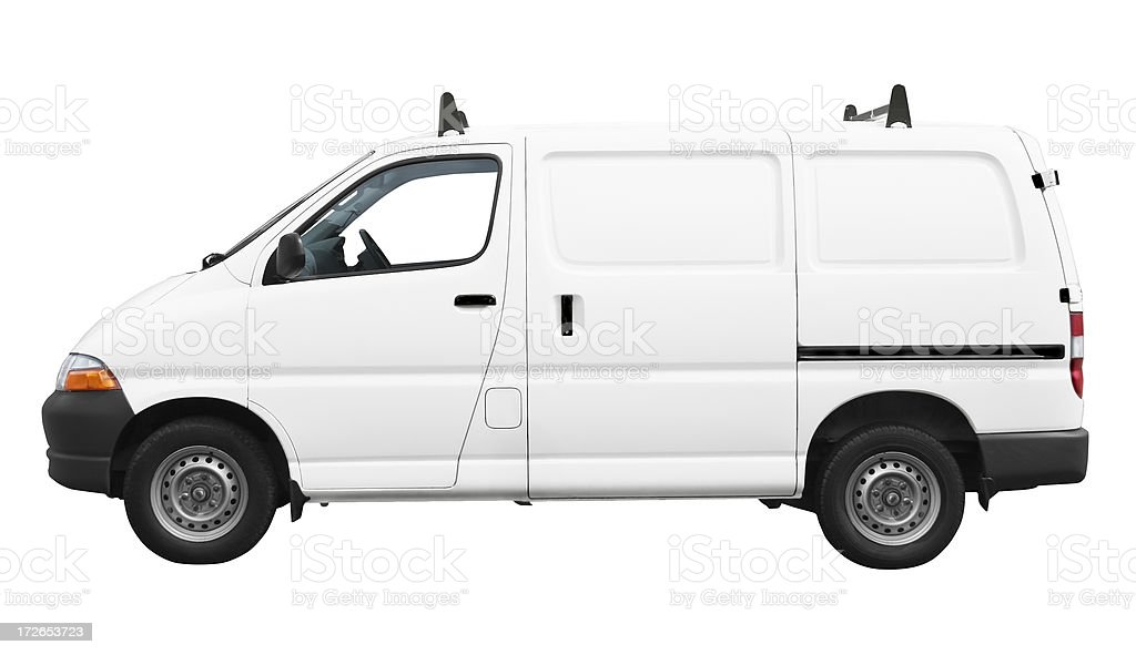 694eee7614 Side View Of White Van Isolated On White Background Stock Photo ...