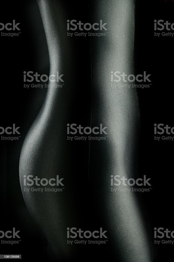 Side View of Woman's Torso Body Curves royalty-free stock photo