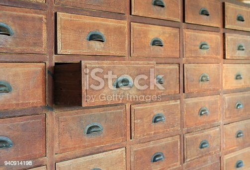668340340istockphoto Side view Open old wooden drawer. 940914198