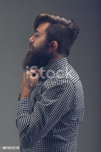636829368istockphoto Side view portrait of thinking stylish young man which sets the 991924218